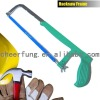 HEAVY DUTY ADJUSTABLE FLAT STEEL HACKSAW FRAME WITH IRON HANDLE