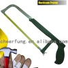 HEAVY DUTY ADJUSTABLE HACKSAW FRAME WITH FLAT STEEL TUBE AND IRON HANDLE