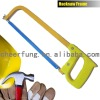 HEAVY DUTY FLAT STEEL HACKSAW FRAME WITH PLASTIC HANDLE