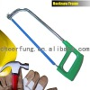 HEAVY DUTY HACKSAW FRAME WITH ALUMINUM ALLOY HANDLE AND ADJUSTABLE ELLIPTIC TUBE