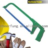 HEAVY DUTY HACKSAW FRAME WITH ALUMINUM ALLOY HANDLE AND ADJUSTABLE FLAT STEEL
