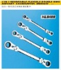 HL8400 4 in 1 reversible flexible double ring ratchet combination wrench
