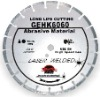 Hand-held high speed laser welded diamond blade for long life cutting Extremely abrasive material---GEHK
