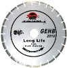 Hand-held high speed segmented diamond saw blade for long life cutting hard material(GEHB)
