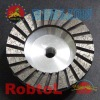 High Quality Aluminium Body Turbo Rim Diamond Grinding Cup Wheel with M-14 Adapter --COBF
