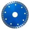 Hot-pressed thin turbo saw blade