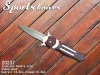 Hunting knife with wooden handle