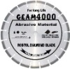 Laser welded segmented small diamond blade for long life cutting extremely abrasive material--GEAM
