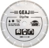 Narrow-gap segmented diamond blade for hard and brittle chip-free cutting--GEAJ