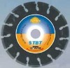 Oval_hole laser welded segmented small diamond blade for long life granite cutting---STBT