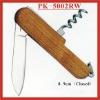 (PK-5002RW) 2 Fold Rosewood Multipurpose Pocket Knife Swiss Knife