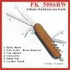 (PK-5006RW) 6 Fold Rosewood Multipurpose Pocket Knife Swiss Knife