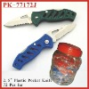 (PK-77172J) 72Pcs Assorted Colored Plastic Pocket Knife in Jar