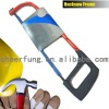 PLASTIC SPRAY HACKSAW FRAME WITH ROUND ALUMINUM ALLOY TUBE