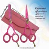 Pink Barber & thinning hair scissors set new 2012