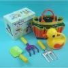 Plastic mini kids garden tool set with bag