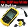 Portable Sonar Fish Finder BIG LCD & ALARM 100M (328.08ft)
