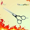 Professional Black Titanium Grip Stylist Thinning Scissors