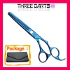Professional high quality stainless steel color scissors (blue&purple,6inch)