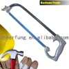 ROUND TUBE HACKSAW FRAME WITH HEAVY DUTY CASTING ALUMINUM AND NATURAL COLOR