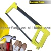 SQUARE TUBE HACKSAW FRAME WITH YELLOW ALUMINUM HANDLE