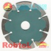 Segmented small diamond Saw blade with two small deep tooth for fast cutting hard and dense material -- GEAE