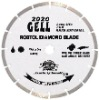 Segmented small diamond blade for long life cutting hard and dense material -- GELL