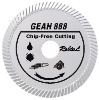 Slant turbo diamond blade for chip-free cutting hard and dense material --GEAH