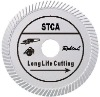 Slant turbo diamond blade for long life cutting hard material--STCA