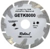 Small deep teeth segmented diamond blade for long life cutting extremely abrasive material--GETK