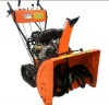 Snow thrower with track