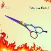 Superior Dark Rainbow Titanium Plated Hair Cutting Shears