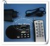 Type HW-360RT mp3 player for hunting bird with timer(15 keys remote,3.7V/1800mah battery)