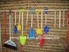 Various size wood shovel handle
