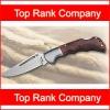Wooden handle folding knife