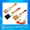 Wooden handle with whire bristle paint brush
