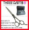 black titanium hairdressing scissors