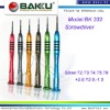 colour Titanium steel handle precision screwdriver set BK-332