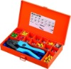 combination tools in metal box