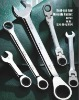 cr-v combination ratchet wrench- professional fixed ratchet spanner