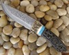 damascus fixed blade knife
