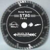dia115mm Deep teeth turbo small diamond Saw blade for fast cutting granite---STAG