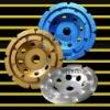 diamond tools:cup wheel:diamond cup wheel:double:105mm