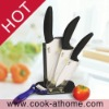 kitchen knife set with acrylic knife block