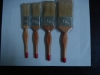 lathe technology lacquer wooden handle and boiled white bristle paint brush