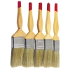 lather thchnology wooden handle pure white bristle paint brush