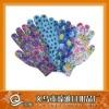 new design printed garden gloves-- dotted nylon glove