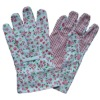 patterned dotted cotton gardening goves