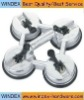 silver color 4 claw vacuum glass holder