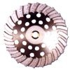 white Waved Turbo Diamond Grinding Cup Wheel for Concrete 7''--COWW